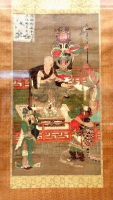 10th Century painting of rakan (arhat).
