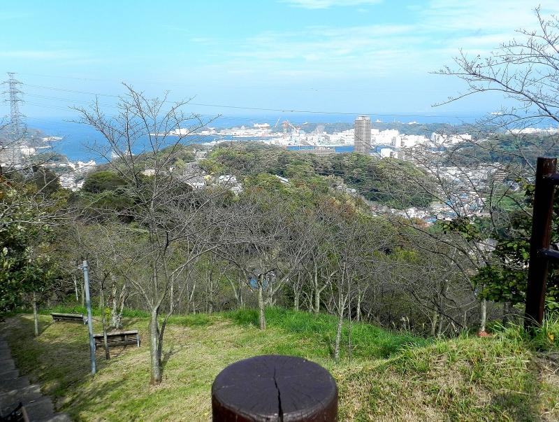 Tsukayama Park overlooking Hemi toward Yokosuka.