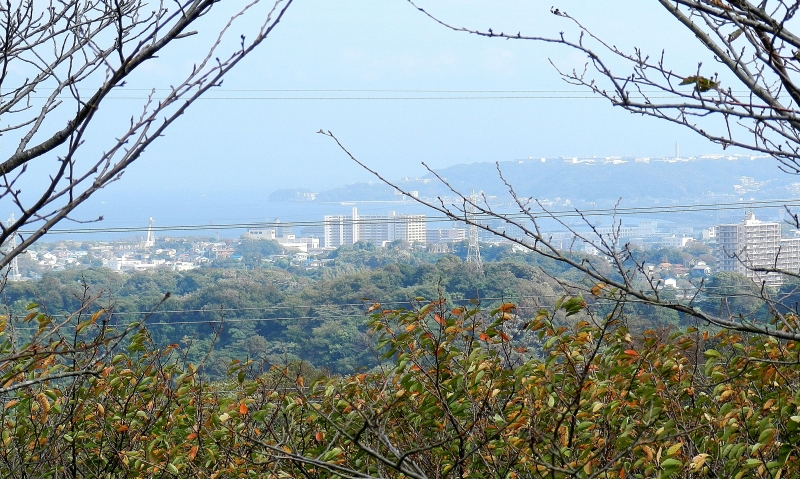 Tsukayama Park looking South toward Yokosuka city.